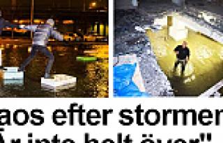 ırtınadan sonra İsveç'te kaos görüntüleri...VİDEO