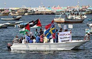 Gazze'de İsveç ve Norveçli Aktivistlere Destek...