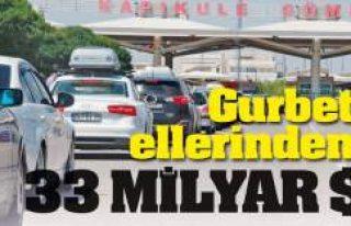 Gurbetçilerin beş senede Türkiye'ye bıraktığı...