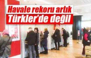 Havale rekoru artık Türkler'de değil