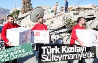 Irak'taki deprem bölgesine ilk yardım Türk...