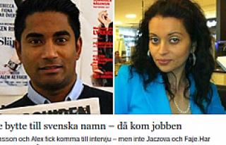İsimlerini İsveççe isimle değiştirdiler hemen...