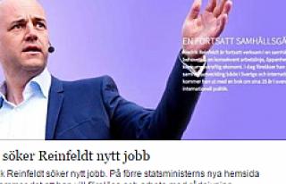 İsveç Eski Başbakanı Reinfeldt iş arıyor...