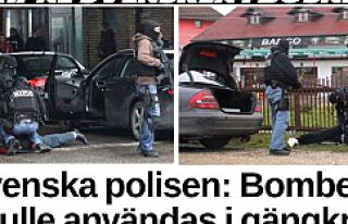 İsveç'e bomba getirirken yakalandılar...