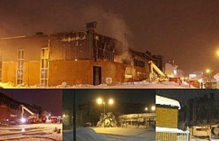 İsveç sanayisinde çıkan yangın büyük hasar...
