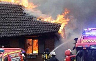 İsveç Skara'da korkunç yangın!