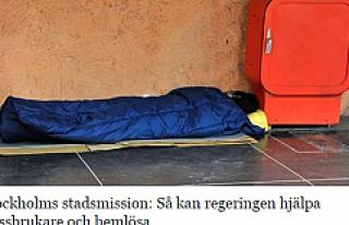 İsveç'te 34 bin insan sokakta yatıyor