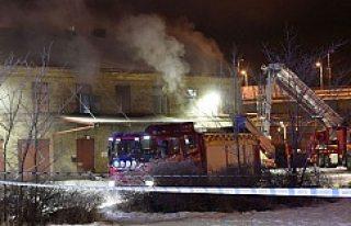 İsveç'te bir camii yandı