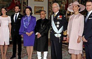 İsveç'te, Hindistan Devlet Başkanının konvoyunda...