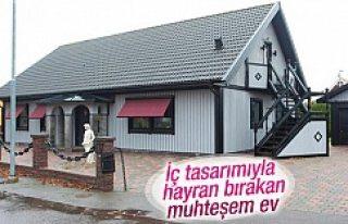 İsveç'te inşa edilen ev iç tasarımıyla...