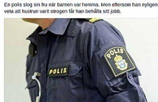İsveç'te, Karısını döven polis meslekte...
