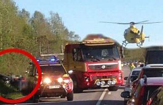 İsveç'te korkunç kaza! Helikopter ambulansı...