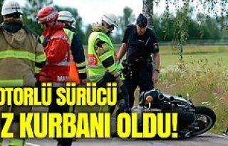 İsveç'te Motorlu sürücü hız kurbanı oldu