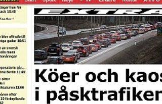 İsveç'te Paskalya trafiği yolları kilitledi...