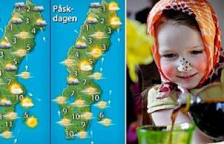 İsveç'te Paskalya'ya boyunca hava durumu