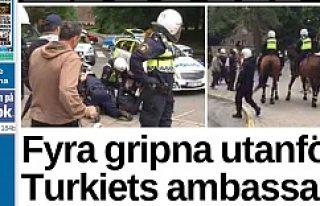İsveç'te, polise saldıran 4 PKK yandaşı...
