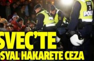 İsveç'te polise twitter'dan hakarete para...