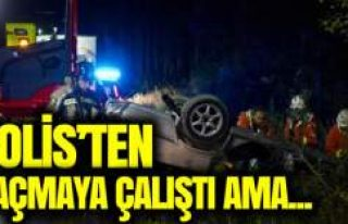 İsveç'te polisten kaçarken tepe takla