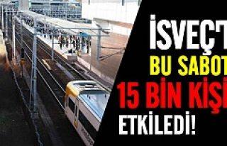 İsveç'te sabotaj 15 bin kişiyi etkiledi!