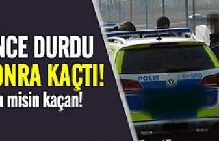 İsveç'te sarhoş sürücü polisin elinden...