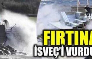 İsveç'te şiddetli fırtına hayatı olumsuz...