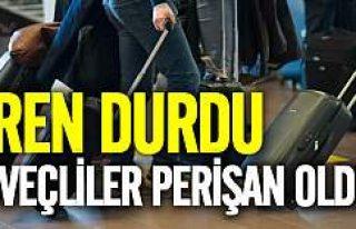 İsveç'te tren durdu, yolcular valizlerini alıp...