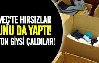 İsveç'te yardım için toplanan 6 ton giysi...