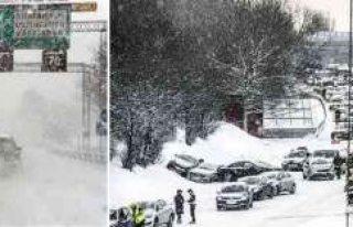 İsveç'te yoğun kar yağışı devam edecek