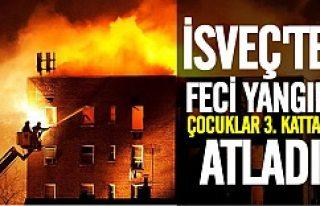 İsveç, yanmaktan kurtulmak için 3. kattan kendini...