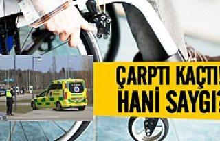 İsveçli sürücü engelliyi ezip kaçtı!