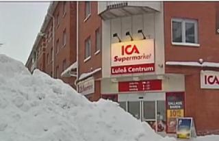 İsveç'te 50 yıllık kar rekoru...VİDEO
