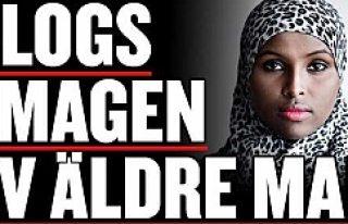İsveç'te bir bayana renginden ve başörtüsünden...