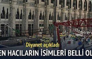 Kabe'de ölen ve yaralanan Türklerin isimleri...