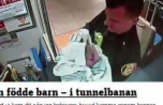 Kadın Metro'da(Tunnelbanan) doğurdu...VİDEO