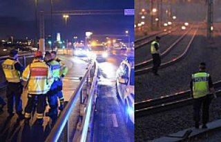 Kaza sonrası Malmö - Lund arası tren seferleri...