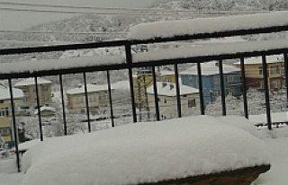 Konya'ya kış geri geldi