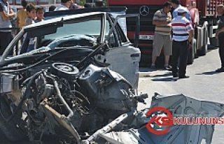 Kulu'da, Tır Aracı Sürükledi 3 Kişi Yaralandı