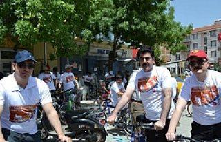 Kulu'da 100 Bisikletçi Pedal Çevirdi