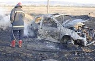 Kulu'da Otomobile Sıkışan Bayan Yanarak Can Verdi