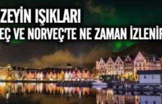 Kuzey Işıkları'nın İsveç ve Norveç'ten...