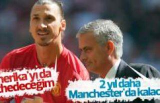 Mourinho Ibrahimovic'in Manchester'da kalacağını...
