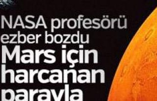 NASA profesörü: Mars'a harcanan parayla Dünya...