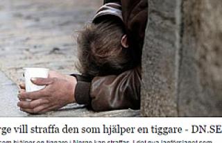 Norveç'te dilencilik yasaklanırken para verenlerde...