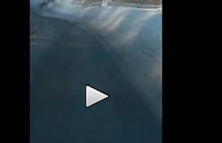 Norveç'te sarhoş sürücünün kaza anı kamerada...VİDEO