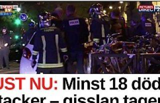Paris'te peş peşe patlamalar! onlarca Ölü...