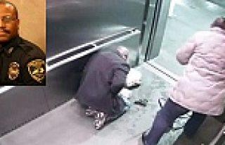 Polis memuru asansörde kendini vurdu