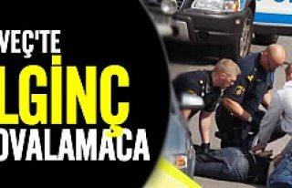 Polisler onu, o elindeki bıçakla diğerlerini kovaladı