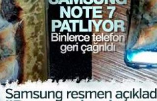 Samsung resmen ilan etti: Note 7'deki patlamalar...
