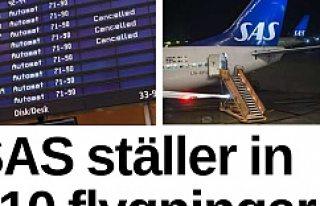 SAS grevi, binlerce yolcu perişan oldu