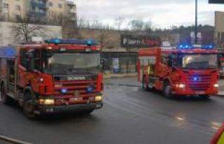 Skärholmen'de kebab lokantasında yangın
